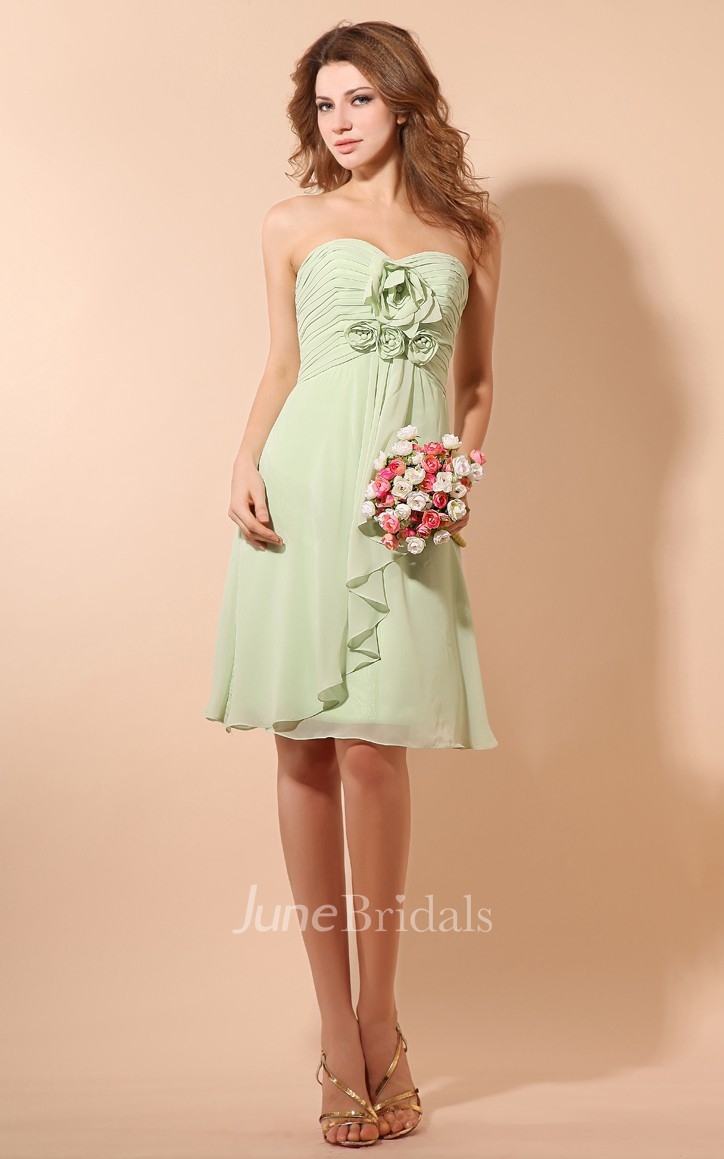 Ethereal soft flowing fabric short dress with ruching and for Short flowing wedding dresses
