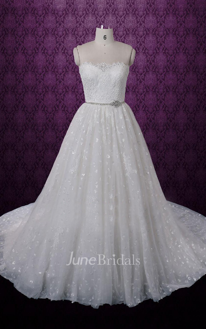 Sleeveless sweetheart wedding dress with beading sash and for Wedding dress shops in dc