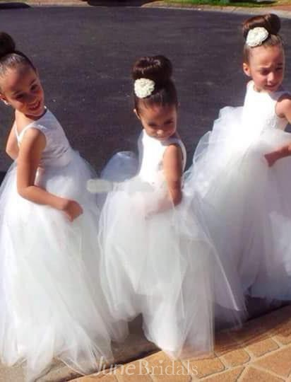 Lovely Tulle Princess Jewel Flower Girl Dress 2018 Floor