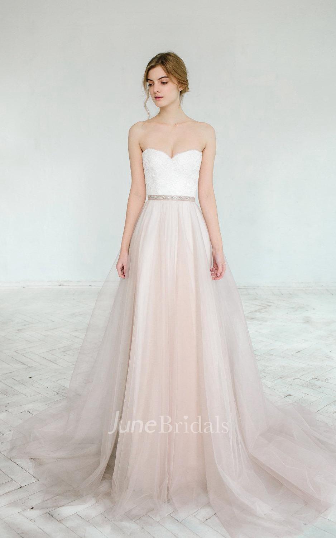 Blush Wedding Dress Petite : Blush wedding gown dahlia pieces dress june bridals