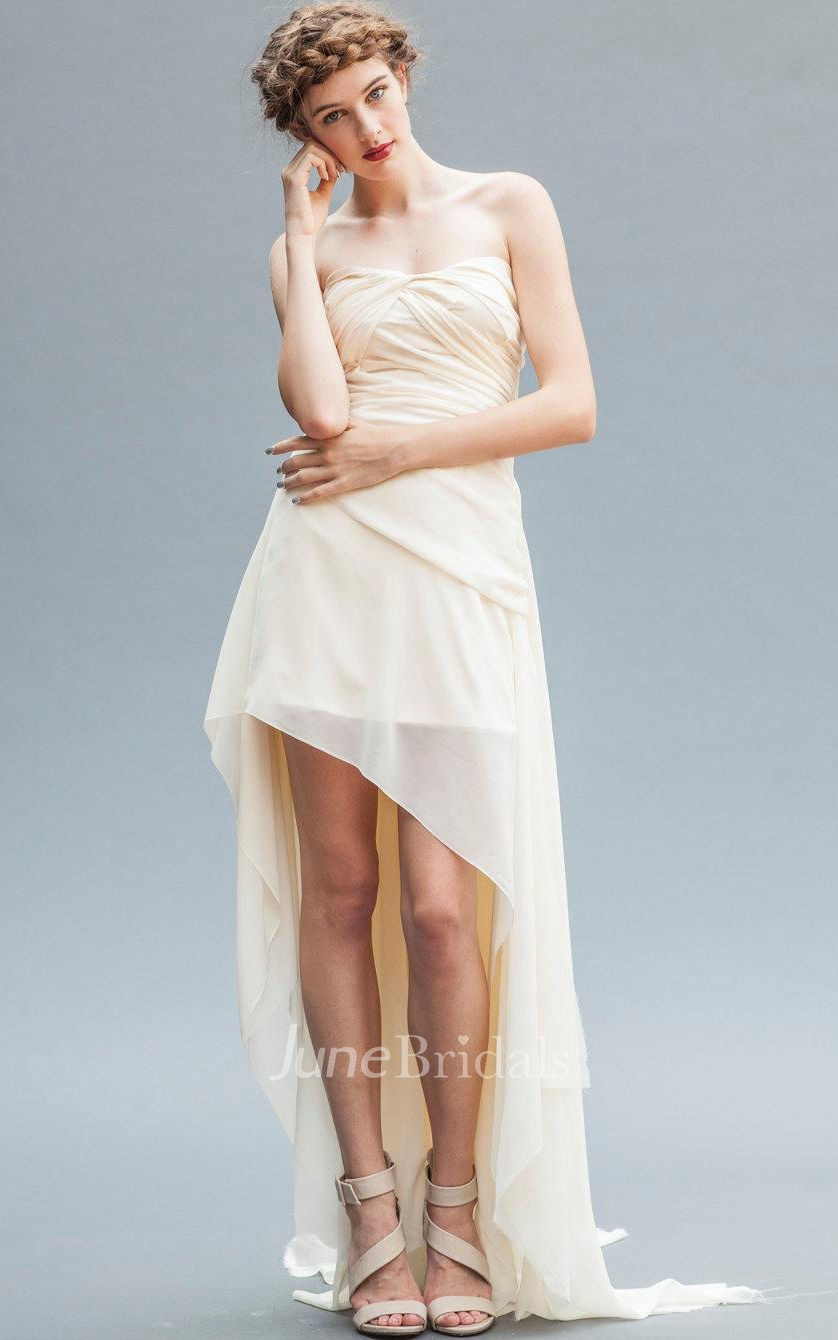 Chiffon Dress With Draping Amp Ruffles June Bridals