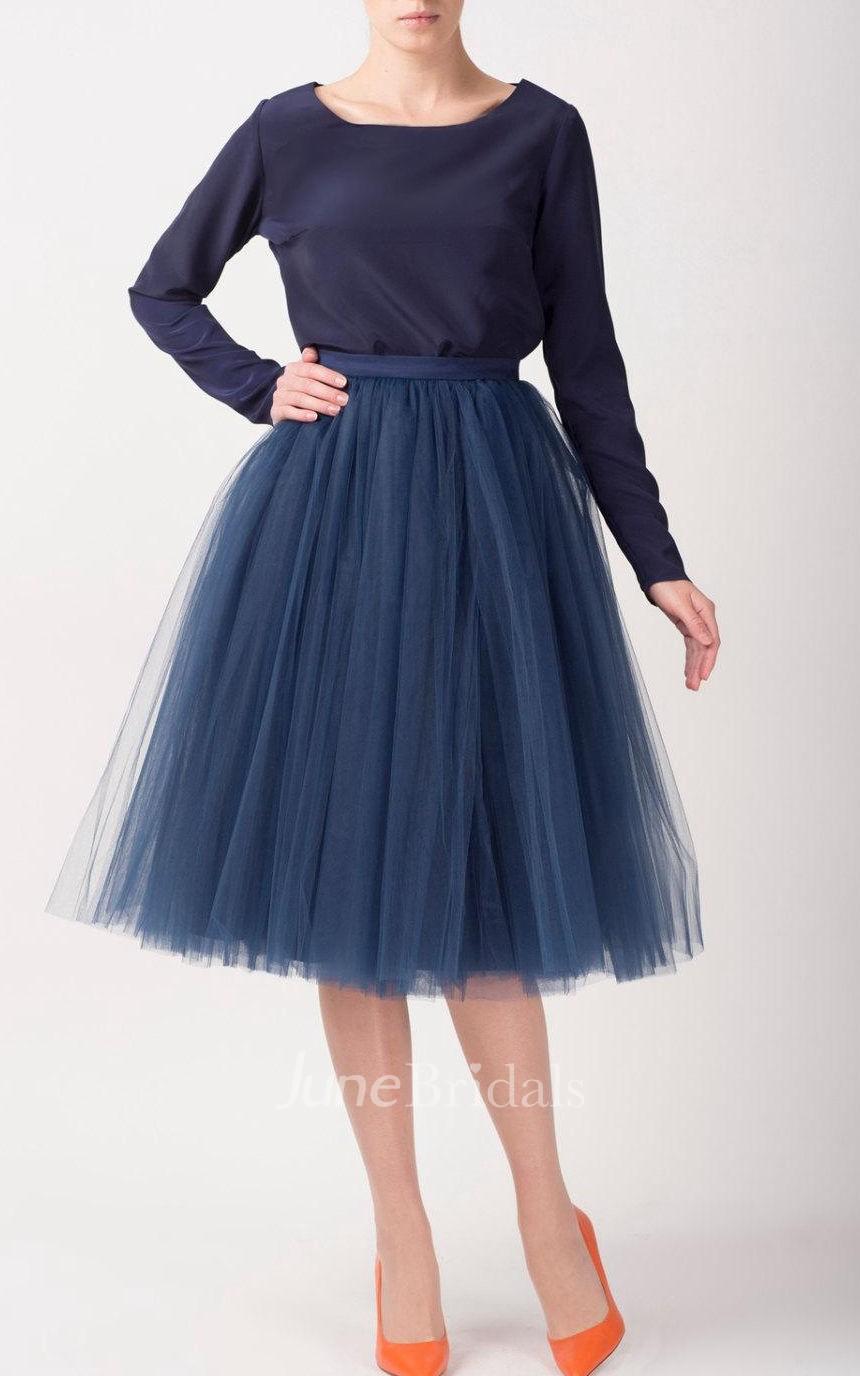 Tulle tutu skirts tea length dress june bridals for Tea length tulle skirt wedding dress