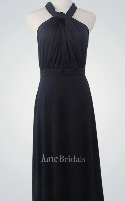 Halter Neck Convertible Long Bridesmaid Dress June Bridals