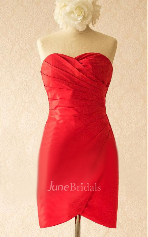Red Satin Dress With Split Front Amp Split June Bridals