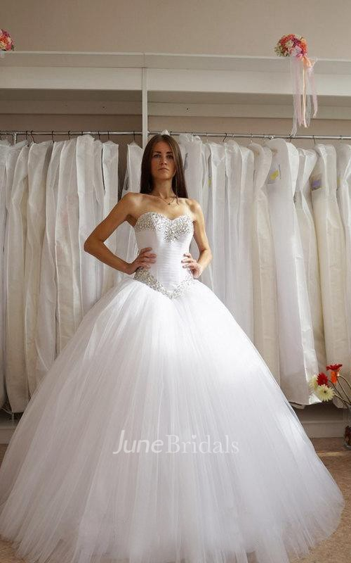 cheap ball gown wedding dresses sweetheart tulle gown with corset bodice and 2568