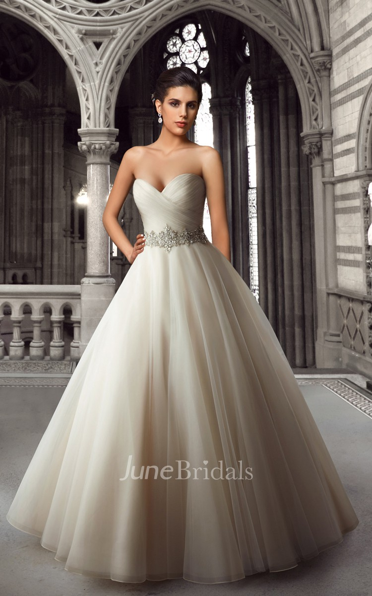Sweetheart Organza Ball Gown With Beaded Waist June Bridals