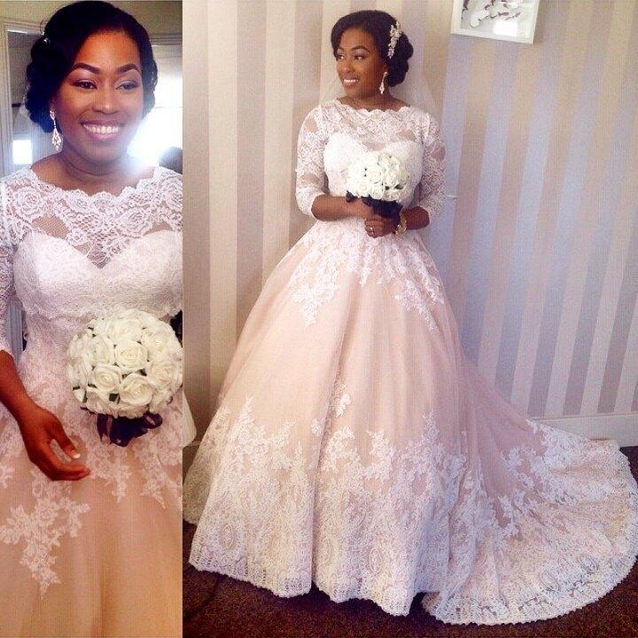 Sapphire Bridal Vintage Wedding Dress 3 4 Sleeve White: Modest 3 4 Sleeves Lace Wedding Dresses Scalloped-Edge