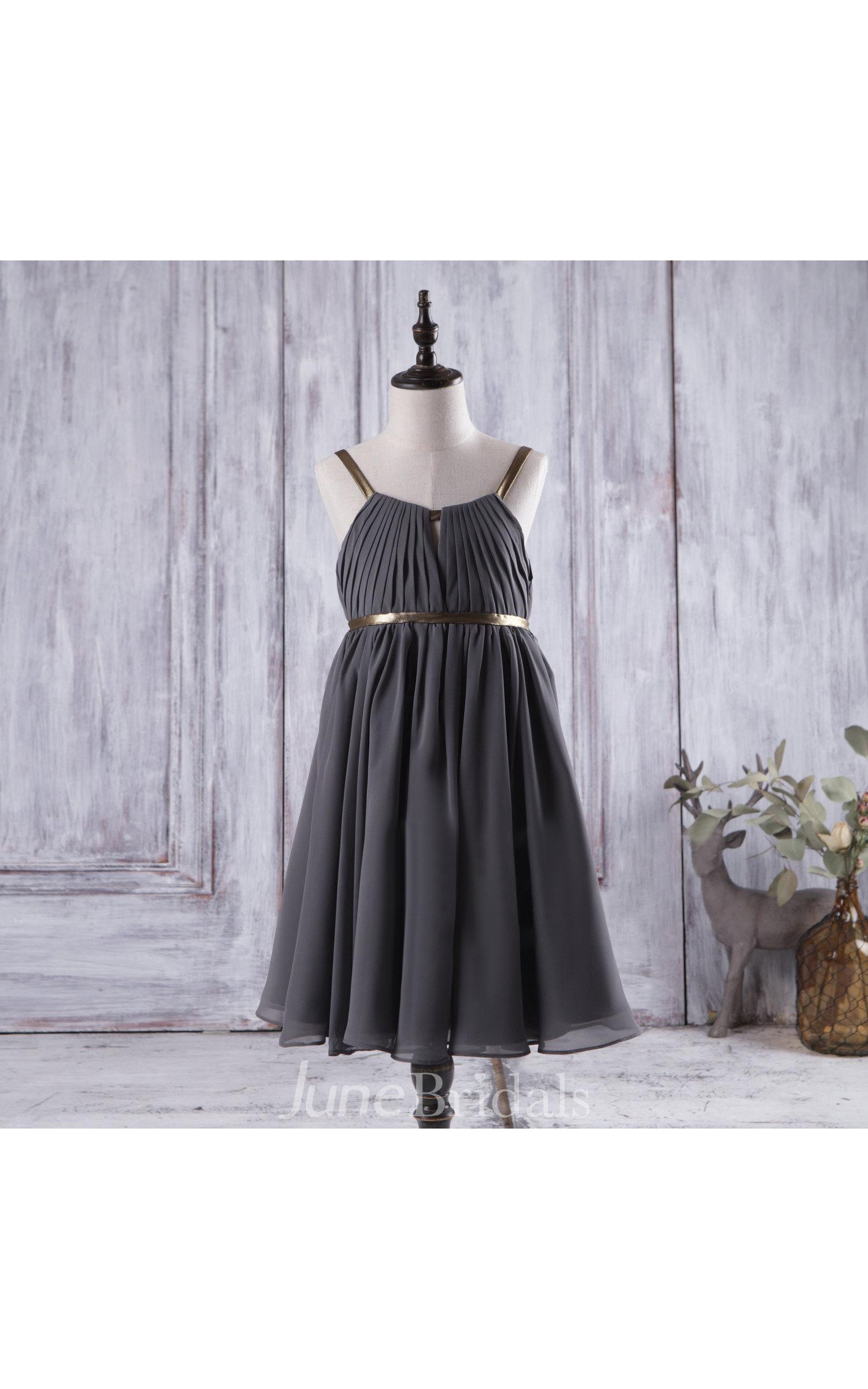 Flower girl dresses charcoal grey wedding dresses in for Postpartum dresses for wedding