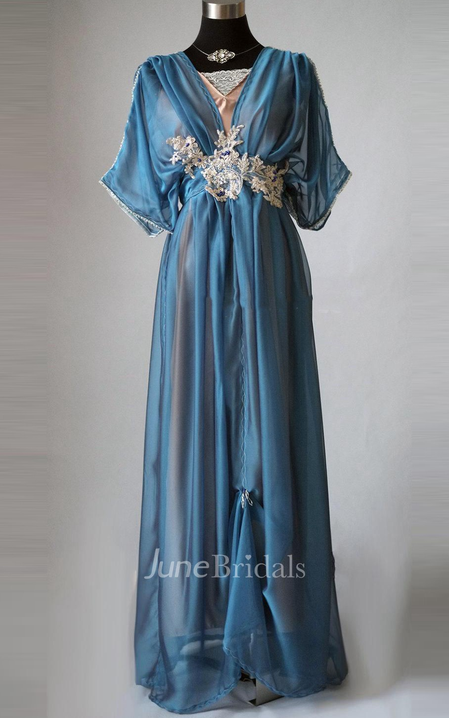 Edwardian Plus Size Blue Handmade In England Lady Mary
