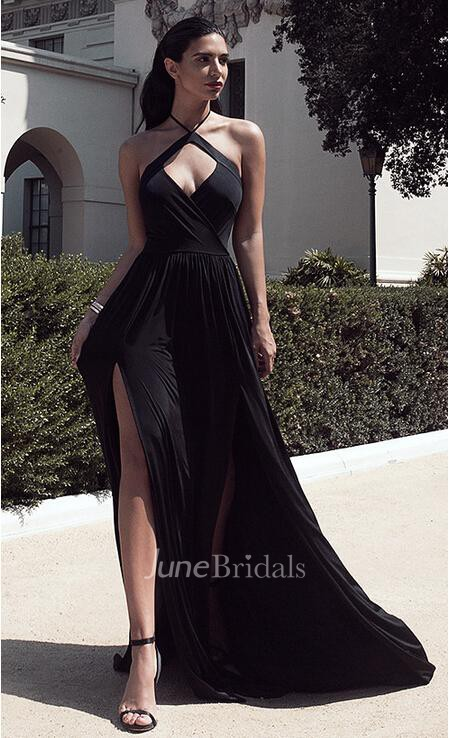 Elegant Long Black Evening Dresses, Formal Gowns - June Bridals