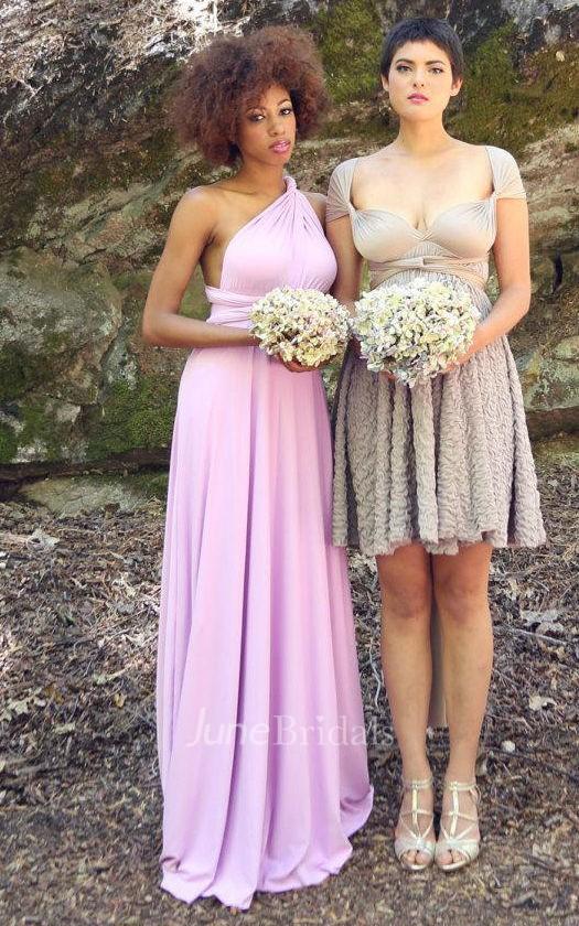 Lilac Long Convertible Wrap Gown Dress June Bridals