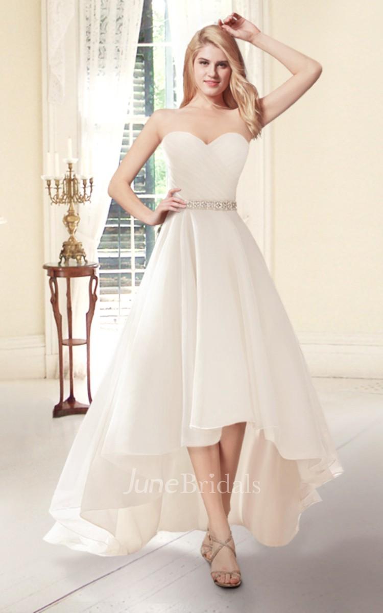 Sweetheart high low organza wedding dress june bridals for Cheap wedding dress shops