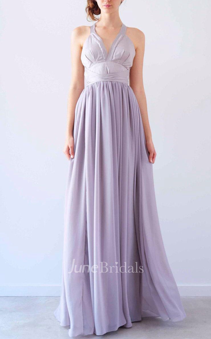 Beautiful Mocha Gown Halter Neck Gown Dress June Bridals