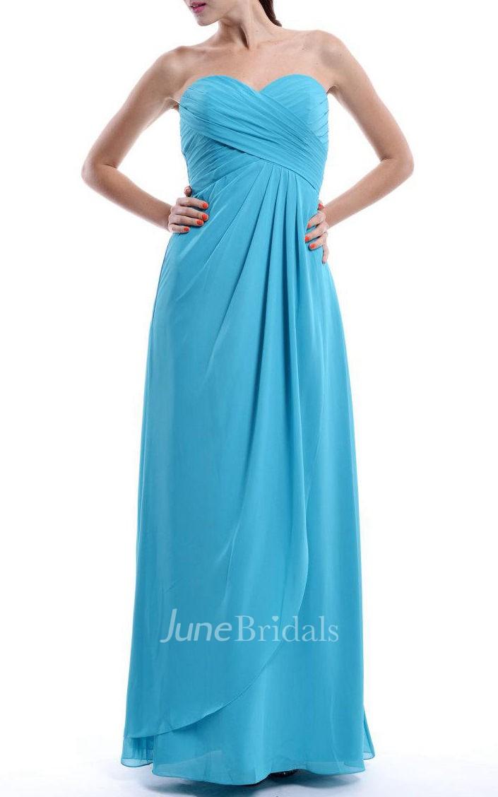 A Line Empire Sweetheart Empire Chiffon Dress June Bridals
