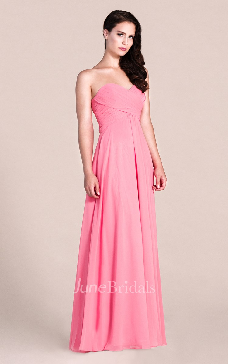 Sweetheart A-line Long Bridesmaid Dress - June Bridals