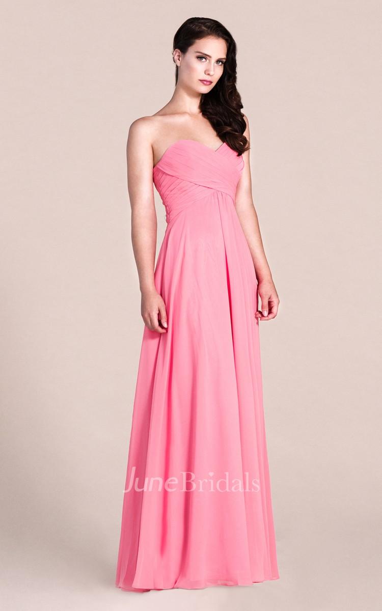 Sweetheart A-line Long Bridesmaid Dress - June Bridals