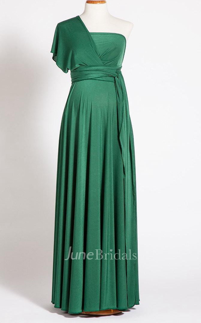 Emerald Green Maternity Long Maternity Infinity Long
