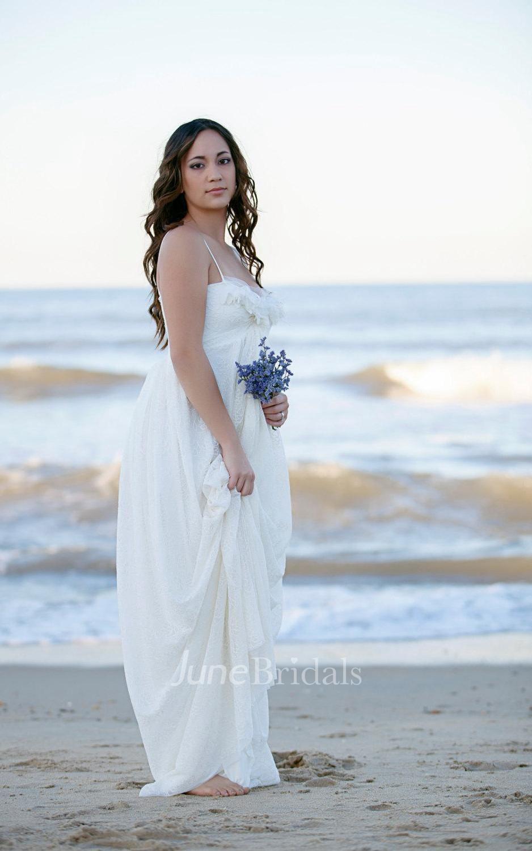 Wedding romantic bohemian wedding gown lace beach maxi for Maxi dress for beach wedding