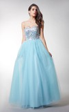 Enchanting Sweetheart Tulle Ball Gown With Beaded Bodice