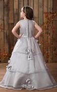 Lovely Sleeveless A-Line Flower Girl Dress With Pleats