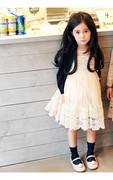 Arabella Sleeveless Jewel Neck A-line Flower Girl Lace and Tulle Dress
