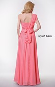 Sweetheart Pleated A-line Chiffon Gown With Convertible Straps