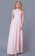 High Neck A-line Chiffon Bridesmaid Dress With Pleats