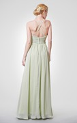 Halter Chiffon Evening Dress with Sexy Back