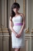 Sweetheart Empire Waist Sheath Lace Wedding Dress With Sash