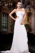 Gossamery Long-Chiffon Classic A-Line Strapless Dress