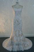 Sweetheart Neck Sleeveless Mermaid Floor-Length Lace Wedding Dress
