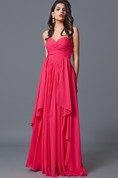 Ruffled Sleeveless Criss-crossed Chiffon Gown With Backless