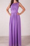 Wedding Lilac Floor Length Evening Delicate Bridesmaid Dress