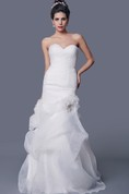 Amazing A-line Organza Wedding Dress With Beaded Jacket