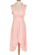 Convertible Chiffon Pleated Short Dress