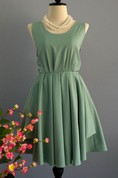 Backless Dress With Bow&Low-V Back
