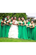 Emerald Green Convertible Wrap Full Length Dress