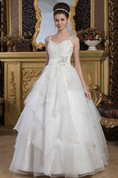 Lace A-Line Tulle Ball Gown with Beading and Spaghetti-Straps