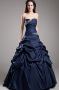 Lovely A-Line Princess Ball Gown With Ruching And Crystal Detailing