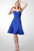 Fabulous Sleeveless Short Satin Dress With Pleats