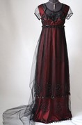 Black Tulle Dress with Beads