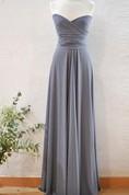 Long Silver Grey Infinity Dress