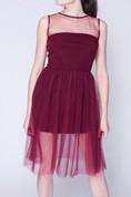 Marsala Short Tulle Tutu Without Rukovodila Prom Formal Bridesmaid Dress