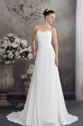 Sweetheart Chiffon A-Line Gown with Ruching and Appliques