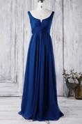2016 Unique Royal Blue Bridesmaid Dress