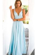 Infinity Sleeveless Jersey Dress With Bow