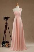2016 Blush One-shoulder Bridesmaid Dress