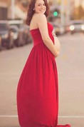 Maternity Gown In Scarlet Red Jersey Dress