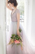 Tulle Wedding Gown Lavanda Dress