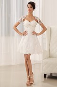 Sweetheart Sleeveless Spaghetti Straps Dress With Lace And Appliques